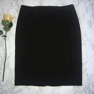 Calvin Klein dark brown midi pencil skirt 12 CK